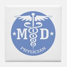 Caduceus MD (rd) Tile Coaster