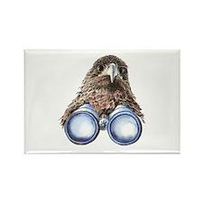 Fun Hawk Bird with Binoculars Magnets