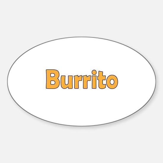 Burrito Sticker (Oval)