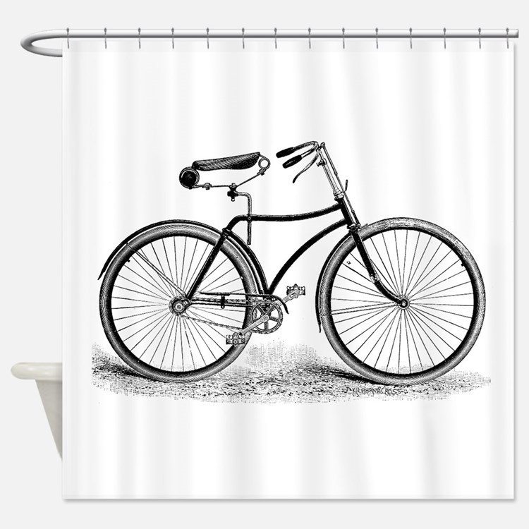Vintagebicycle Shower Curtain