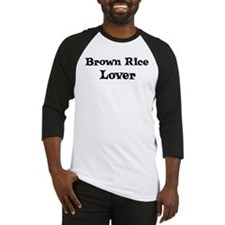 Brown Rice lover Baseball Jersey