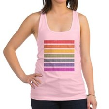 Worn Rainbow Stripes Racerback Tank Top