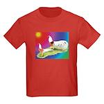 Yokohama Rooster and Hen Kids Dark T-Shirt