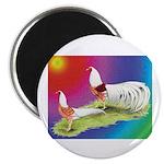 Yokohama Rooster and Hen Magnet