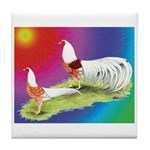 Yokohama Rooster and Hen Tile Coaster