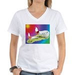 Yokohama Rooster and Hen Women's V-Neck T-Shirt