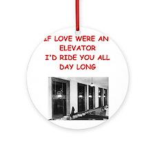 elevator Ornament (Round)