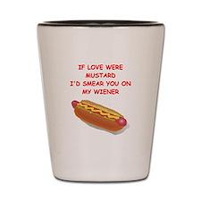 hot dogs Shot Glass