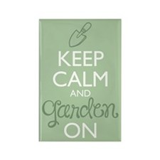 Keep Calm And Garden On Magnets