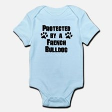 Protected By A French Bulldog Body Suit