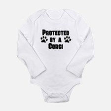 Protected By A Corgi Body Suit