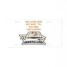 tech support Aluminum License Plate