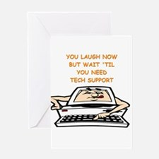 tech support Greeting Cards