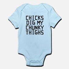 Chicks Dig My Chunky Thighs Body Suit