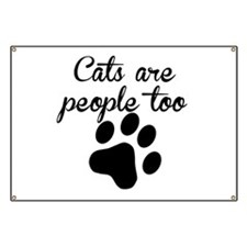 Cats Are People Too Banner