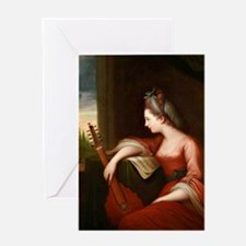 Lady with a Lute Greeting Card