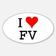 I Love FV Oval Decal