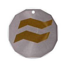 Earth Rune Round Ornament