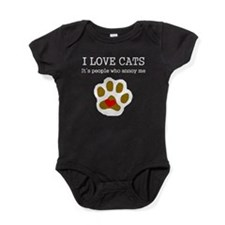 I Love Cats People Annoy Me Baby Bodysuit