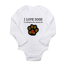 I Love Dogs People Annoy Me Body Suit