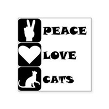 Peace Love Cats Sticker