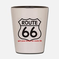get your kicks on route 66 Shot Glass