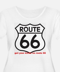 get your kicks on route 66 Plus Size T-Shirt