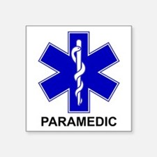 Blue Star of Life - PARAMEDIC.png Square Sticker 3