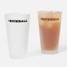 Kickball Hashtag Drinking Glass
