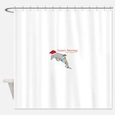 Seasons Greetings From Paradise Shower Curtain