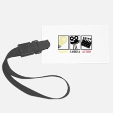 Lights Camera Action Luggage Tag
