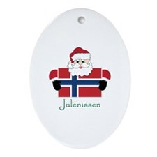 Julenissen Ornament (Oval)