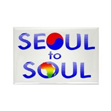 Seoul to Soul Rectangle Magnet