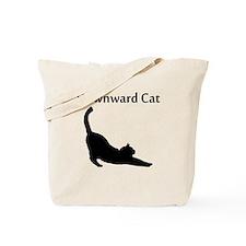Downward Cat Tote Bag