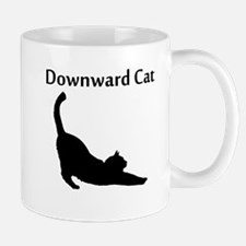 Downward Cat Mugs
