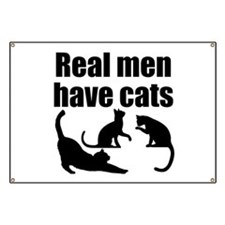 Real Men Have Cats Banner