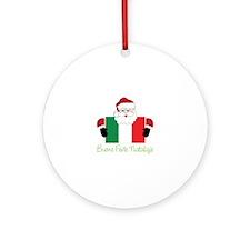 Buone Feste natalizie Ornament (Round)