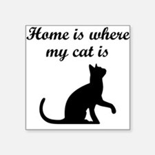 Home Is Where My Cat Is Sticker