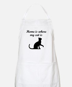 Home Is Where My Cat Is Apron