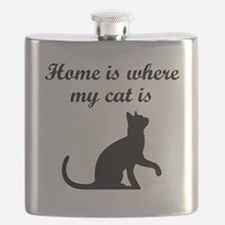 Home Is Where My Cat Is Flask