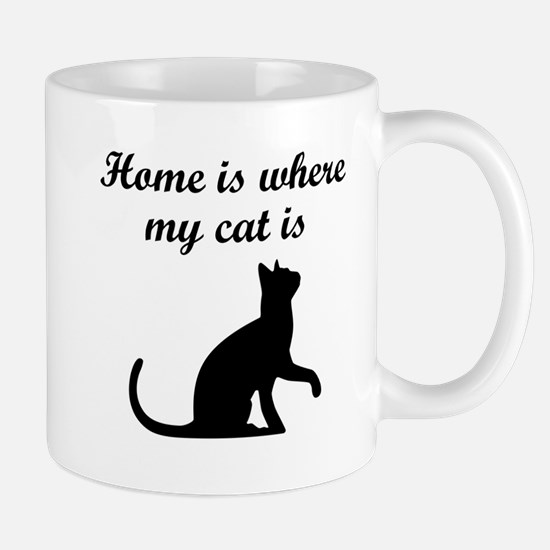 Home Is Where My Cat Is Mugs