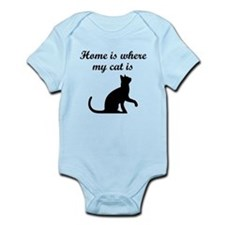 Home Is Where My Cat Is Body Suit