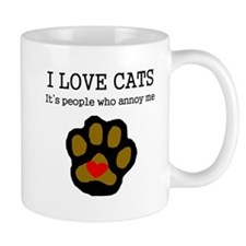 I Love Cats People Annoy Me Mugs