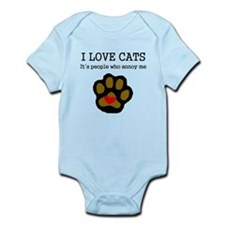 I Love Cats People Annoy Me Body Suit