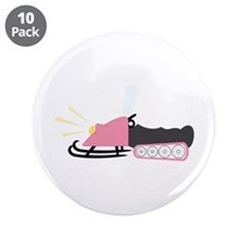 "Girly Snowmobile 3.5"" Button (10 pack)"