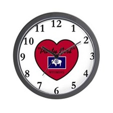 Party Girl Wyoming Wall Clock