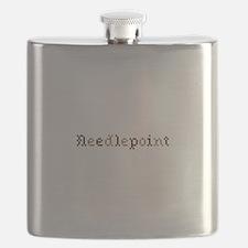 Needlepoint Flask