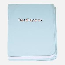 Needlepoint baby blanket