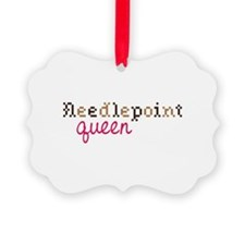 Needlepoint Queen Ornament