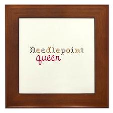 Needlepoint Queen Framed Tile